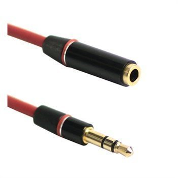 3.5mm / 3.5mm Audio Extension Cable Red