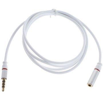 3.5mm / 3.5mm Audio Jatkokaapeli Valkoinen