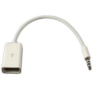 3.5mm / USB Kaapeliadapteri Valkoinen