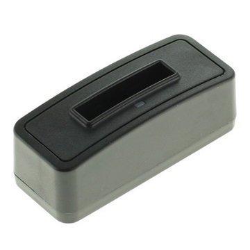 Akkulaturi Panasonic CGA-S005 Fuji NP-70 Ricoh DB-60 Musta