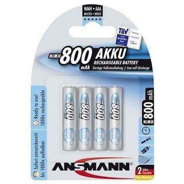 Ansmann maxE Ladattavat AAA Paristot 800mAh