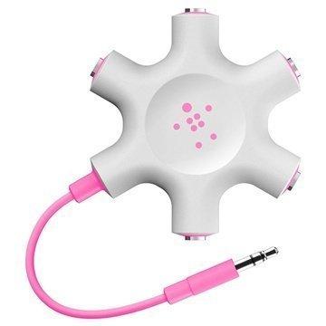 Belkin RockStar Kuulokejakaja 3.5mm Pinkki
