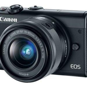 Canon Eos M100 Järjestelmäkamera Musta M15 45 S + Irista