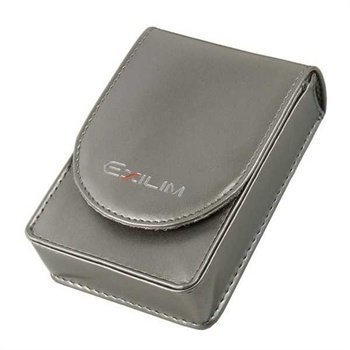 Casio EX-CASEBD14 Faux Leather Case Exilim Zoom EX-Z1 EX-Z270 EX-Z400 Silver