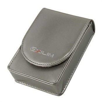 Casio EX-CASEBD14 Faux Leather Case Exilim Zoom EX-Z1 EX-Z270 EX-Z400 Silver