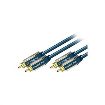 Clicktronic 2x RCA / 2x RCA Stereo Audio Cable 10m