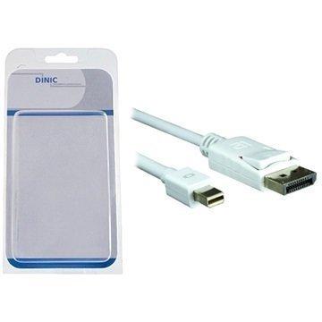 Dinic Mini DisplayPort / DisplayPort Kaapeli 2 m Valkoinen
