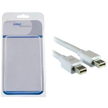 Dinic Mini DisplayPort / Mini DisplayPort Kaapeli 2 m Valkoinen