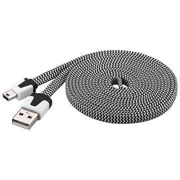 Goobay USB 2.0 / Mini-B Kaapeli 2m Musta / Valkoinen