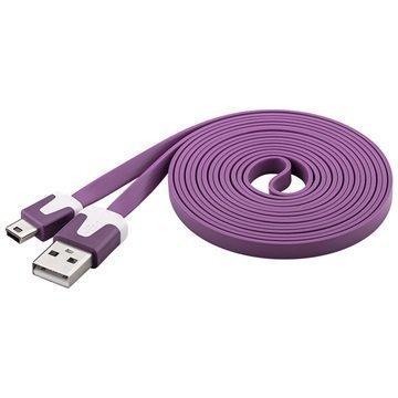 Goobay USB 2.0 / Mini-B Litteä Kaapeli Violetti