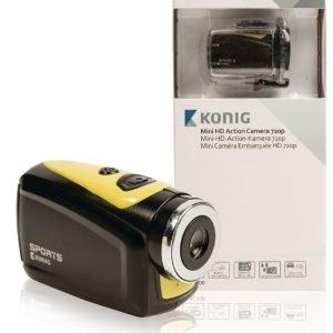 HD-action-kamera 720p 5 Mpx vedenpitävä kotelo