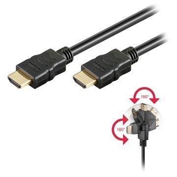 High Speed HDMI / HDMI Kaapeli Pyörivä 1m