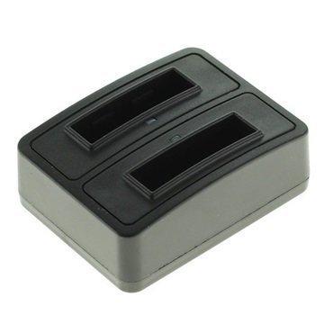 Kaksoislaturi Fuji NP-40 Pentax D-LI85 Samsung SLB-0737 Musta