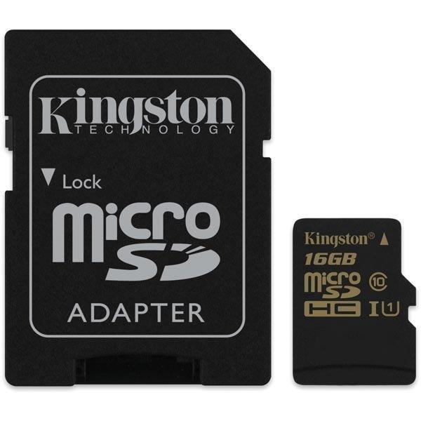 Kingston 16GB microSDHC CL10 UHS-I 90R/45W