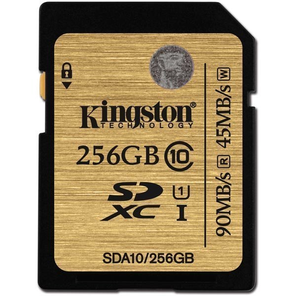 Kingston 256GB SDXC Class 10 UHS-I 90R/45W Flash Card