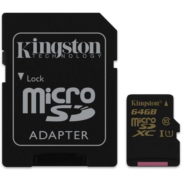Kingston 64GB microSDXC CL10 UHS-I 90R/45W