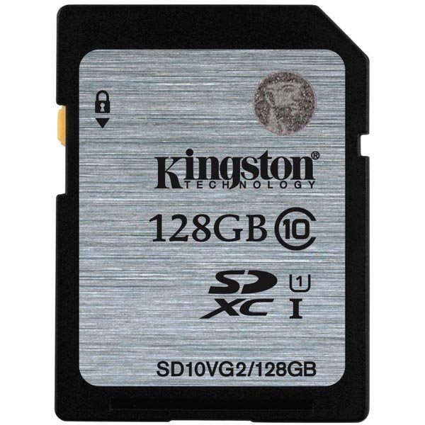 Kingston muistikortti SDXC 128GB UHS-I Class 10 45MB/s