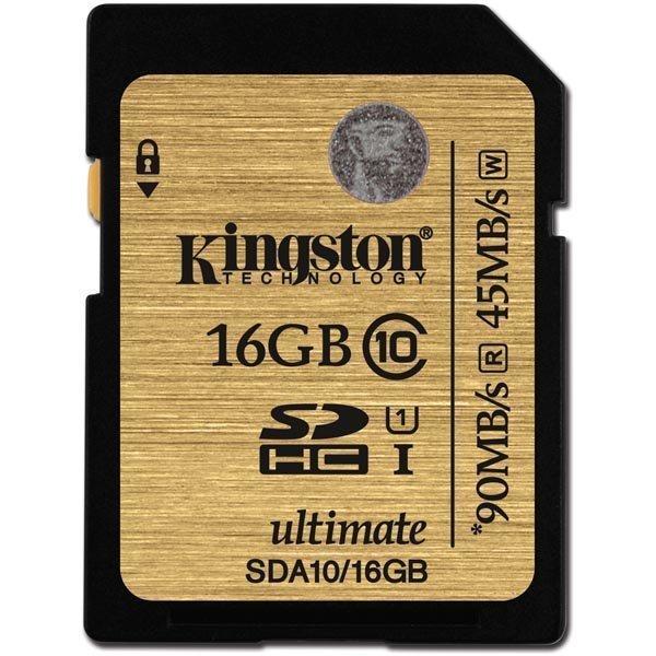Kingston muistikortti SDXC 16GB UHS-I Ultimate Class 10
