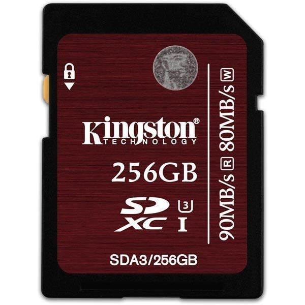 Kingston muistikortti SDXC 256GB UHS-I U3 Class 3 90MB/s