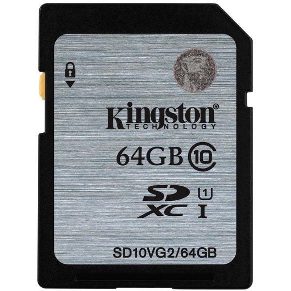 Kingston muistikortti SDXC 64GB UHS-I Class 10 45MB/s