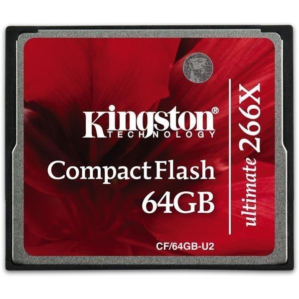 Kingston muistikortti Ultimate CompactFlash 64GB Media recover 266x
