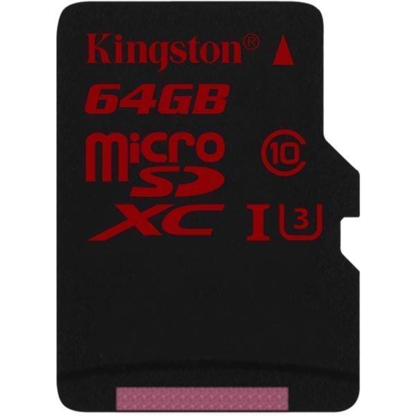 Kingston muistikortti microSDXC 64GB UHS-I Class 3 90/80Mbps