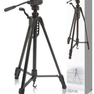 Korkealaatuinen kolmijalka kameroille ja videokameroille