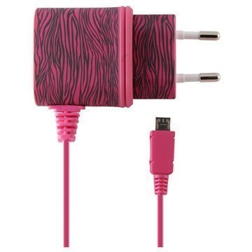 Ksix Micro USB Matkalaturi Seepra Pinkki