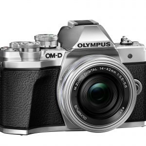 Olympus E M10 Mark Iii Järjestelmäkamera Runko Hopea + 14 42 Mm Ez Pannukakkuobjektiivi Hopea