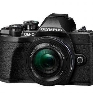 Olympus E M10 Mark Iii Järjestelmäkamera Runko Musta + 14 42 Mm Ez Pannukakkuobjektiivi Musta