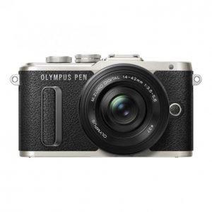 Olympus E-Pl8 Pancake Zoom Kit E-Pl8 Black + Ez-M1442ez Black
