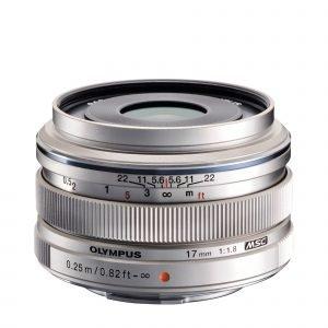 Olympus M.Zuiko Digital 17mm 1:1.8 / Ew M1718 Objektiivi Hopea