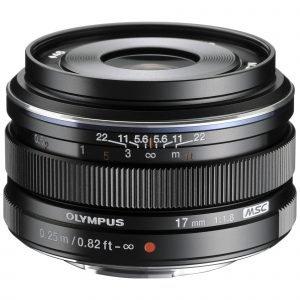 Olympus M.Zuiko Digital 17mm 1:1.8 / Ew M1718 Objektiivi Musta