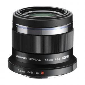 Olympus M.Zuiko Digital 45mm 1:1.8 / Et M4518 Objektiivi Musta