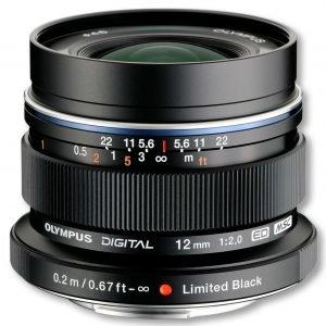 Olympus M.Zuiko Digital Ed 12mm F/1:2.0 Objektiivi Musta
