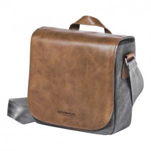 Olympus Mini Messenger Bag From Leather And Canvas