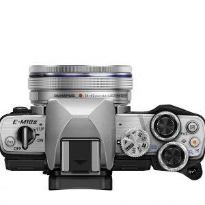 Olympus Om D E M10 Ii Järjestelmäkamera Runko Hopea/Musta + Ez M1442 Objektiivi