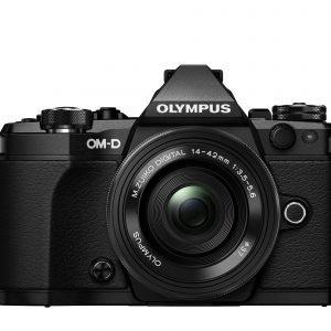 Olympus Om D E M5 Mark Ii Järjestelmäkamera Runko Musta + 14 42mm Ez Pannukakkuobjektiivi Musta