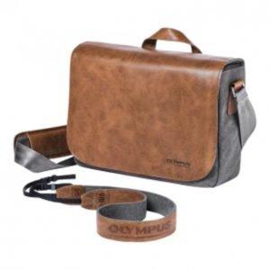 Olympus Om-D Messenger Leather Bag Incl. Strap