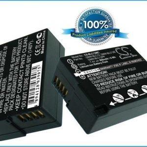 Panasonic DMW-BLC12 DMW-BLC12E DMW-BLC12PP akku 800 mAh