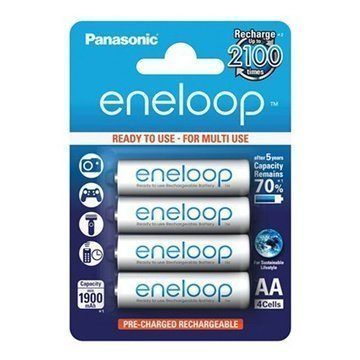 Panasonic Eneloop Ladattavat AA Paristot BK-3MCCE 2000mAh 4 Kpl.
