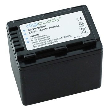 Panasonic VW-VBK360 Videokamera Akku HDC-SD90 HC-V700 HDC-TM90 3400mAh