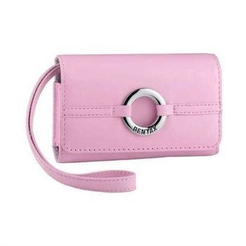 Pentax Leather Case LC-M2 Optio L50 M50 Pink