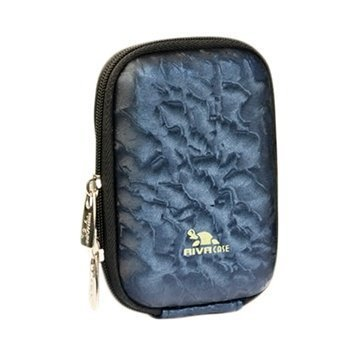 Rivacase 7023 Digital Camera Case Shiny Wave Tummansininen