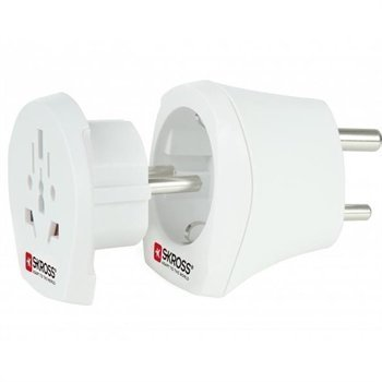 SKROSS Combo Adapter World to India White