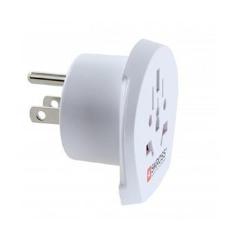 SKROSS Country Adapter World to USA White