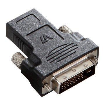 V7 DVI-D / HDMI -adapteri Musta