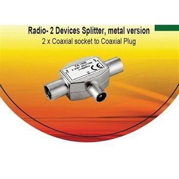 V7 Koaksiaali 2-Tie Radio Splitter / Signaalinjakaja